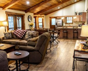 Luxury Cabin Rental - Large Living Area